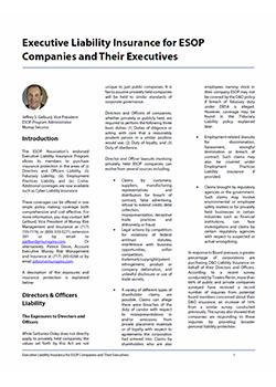 Executive Liability for ESOP Companies