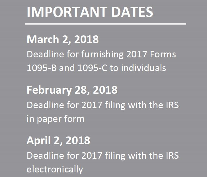 Aca Compliance Furnishing Deadline Delayed For 2017 Aca Reporting